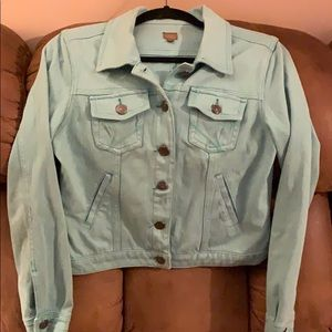 Teal REUSE Jean Jacket
